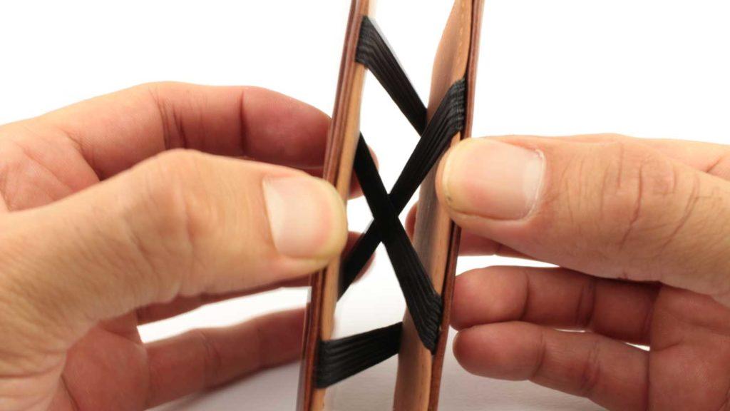 Magic Wallet Spanntechnik im Detail und zoom